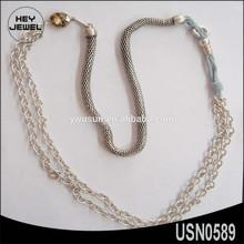 fashion latest design handmade alloy rhinestone chain necklace