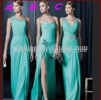 YBD11003 High Quality Short Sleeve Chiffon Cheap Bridesmaid Dresses Patterns 2014