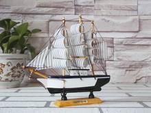 20CM Decoration Wooden Sailboat Model