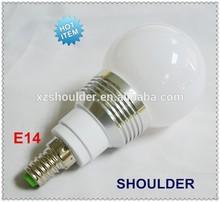 Christmas light! LED Bulbs 3W RGB E14 base + IR Synchronous remote controller change 16 Colors