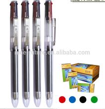 4 colors Plastic ball pen simple ball point pen