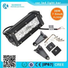 Factory Direct 7.5 inch 36W led light bar for trucks IP 67 waterproof led light bar