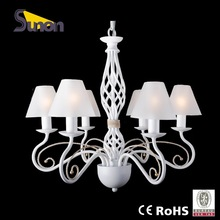 Russia new rustic style neutral white wrought iron pendant lamp dinning room