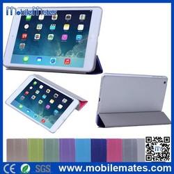 Silk Surface Tri-fold Stand PC & PU Leather Case For iPad Mini/iPad Mini 2 Retina /3
