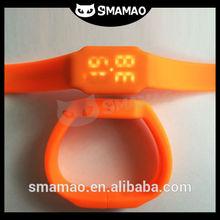 SMAMAO Promotional wrist watch silicone/ custom silicone watch wholesale