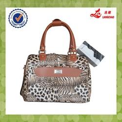 2015 fashion pu leather luggage handbag for lady