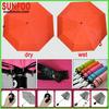 magic color changing orange umbrella when wet