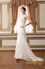 High class!Elegance chic lace wedding dress and luxury sexy mermaid wedding dresses 2104 high collar bridal gown white wedding