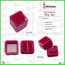 Flat pack velvet customized luxurious wedding ring box