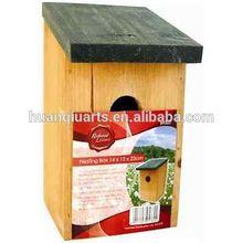TRADITIONAL WOODEN NESTING BOX SMALL WILD ANIMAL BIRD NEST HOUSE