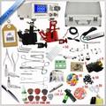 2 máquina de tatuagem ss 5 ferramentas piercing tatuagem& piercing kits, professional body piercing kit, tattoo piercing e tatuagem kit máquina
