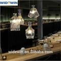 Mode style européen transparent verre sculpté lampe pour pub