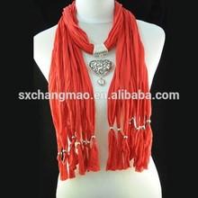 love heart ornament pendant scarf