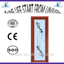 high grade nwe style room door with high corrosion/rust proof door handle modern single glass sliding door