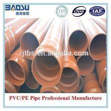 Orange colored sewer pvc pipe