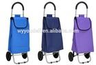 fashion supermarket polyester 2 wheels shopping trolley bags ,Shopping Cart