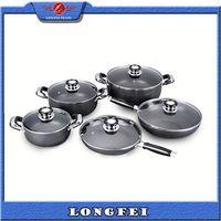 TOP QUALITY!! Aluminum Non-stick porcelain coated cast iron cookware