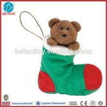 stuffed plush christmas toy socks christmas socks toy
