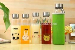 high quality glass drinking bottle,stainless steel cap for glass bottle