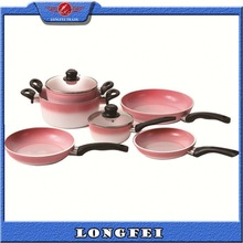 TOP QUALITY!! Aluminum Non-stick 3 layer copper cookware set
