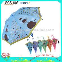 Good quality hot sale plastic curved handle children umbrella