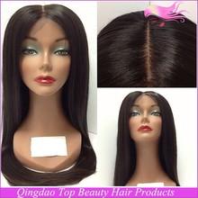 High quality brazilian human hair silky straight wave glueless silk top full lace wig baby hair