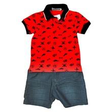 2015 New Hot sale latest design Petelulu children garment cotton t-shirt & short jeans baby casual kids boy summer clothing set