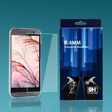 Tempered glass screen protector for HTC One M8 HD clear film ultra thin guard Anti-Bubble Crystal