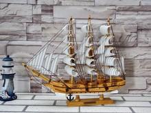45CM Wood Antique Sailing Ship Table Decoration