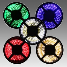 led light price list 5m smd5050 60leds 12/24v RGB and multi color christmas led strip light