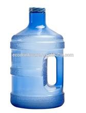 new product Tritan Plastic 1GAL /3.8L water jar jug with handle