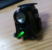 The Smallest Laser gun sight with three laser colors adjustable,red,green or infrared used for glock type and rifle guns