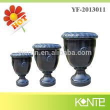 Home Light Weight Polyresin Tall Round Antique Flower Urns