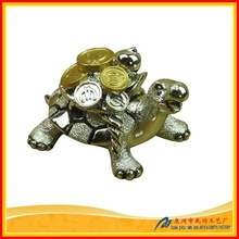 Vivid Small Animal with Coin Sculpture Turtle Gift
