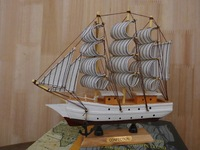 20CM Wooden Boat and Ship Models