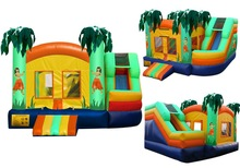 2014 new design Commercial Combo Twist Hulla Inflatable Slide Combo Aloha! this is our fun hulla bouncy and twist slide combo