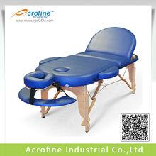 Acrofine Oval-III Height Adjustable Folding Wooden Massage Oval Beds
