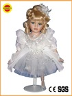 white dressed dancing porcelain dolls heads and hands