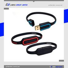 usb flash drive writsband 4GB,Promotional wristband usb flash drive,usb flash drive waterproof bracelet 2GB
