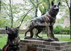 German shepherd life size bronze shepherd statue