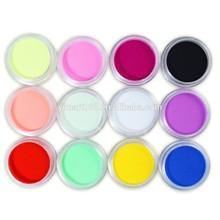 Yimart 12 Color Nail Art Carving Powder,Gel Nails Acrylic Polymer Powder