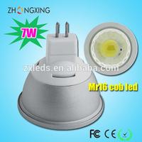 12v dimmable 7W MR16 LED COB spotlights day light 4000k