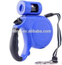 2015 new design pet leash with waste bag dispenser