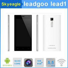تقبل باي بال الأصلي leagoo 1 الرصاص رباعي النوى mtk6582 4.4 الروبوت celular المزدوج سيم الهاتف الذكي المحمول رام 1g 8 جروم 3g gps