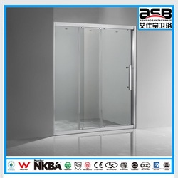 economical 8mm sliding Toughened Glass abs back wall shower cabin
