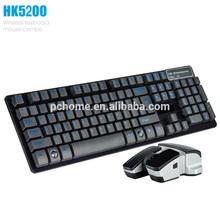 2014 Top venda sem fio teclado e Mouse de jogo, Oem bem-vindo