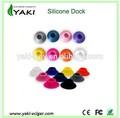 e cigarrillo de vapor de silicona de colores para base dock soporte de exhibición de silicona ego de aluminio dock dock