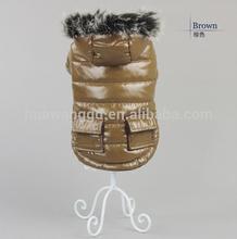 heat blank winter large pet dog coat with fur hat