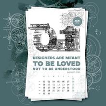 Full color printed custom insert photo wall calendar