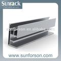 solar de montaje riel de aluminio extruido para el techo y el suelo de montaje